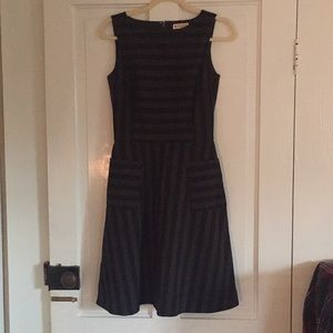 Brooks Brothers Striped A-Line Dress with Pockets